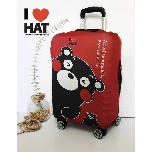Vỏ bọc vali, áo bọc vali Kumamon Size M-không bán vali