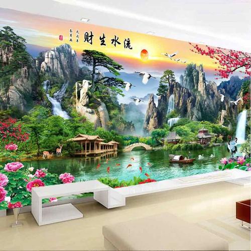 Tranh thêu chữ thập phong cảnh tuyệt đẹp 150x71cm - 11147334 , 18856825 , 15_18856825 , 275000 , Tranh-theu-chu-thap-phong-canh-tuyet-dep-150x71cm-15_18856825 , sendo.vn , Tranh thêu chữ thập phong cảnh tuyệt đẹp 150x71cm