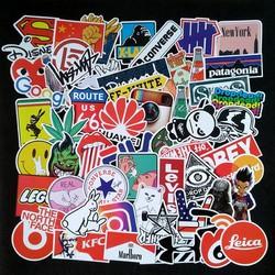 Bộ Sticker dán cao cấp chủ đề LOGO THƯƠNG HIỆU - Dùng dán Xe, dán mũ bảo hiểm, dán Laptop...