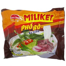 Phở bò ăn liền Miliket lốc 5 gói x 60g