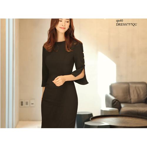 DRESS673 ĐẦM ÔM CÔNG SỞ XẺ TAY