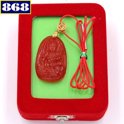 Dây chuyền Phổ Hiền Bồ Tát 3.6 đỏ DOTOB2 hộp nhung