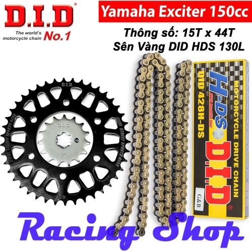 Nhông sên dĩa EXCITER 150, FZ 150 15Tx44T - Sên Vàng 10ly DID HDS 130L - Thái Lan