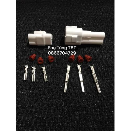 10 Bộ Giắc nối điện xe máy và ô tô 3P Chống nước Bộ Jack Nhựa trắng và Cos - 8450756 , 17850907 , 15_17850907 , 100000 , 10-Bo-Giac-noi-dien-xe-may-va-o-to-3P-Chong-nuoc-Bo-Jack-Nhua-trang-va-Cos-15_17850907 , sendo.vn , 10 Bộ Giắc nối điện xe máy và ô tô 3P Chống nước Bộ Jack Nhựa trắng và Cos
