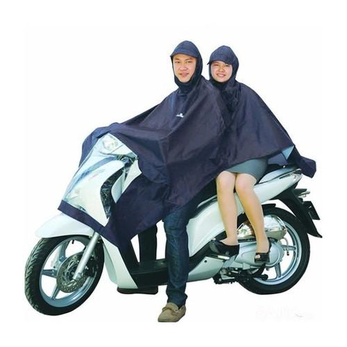 Áo mưa 2 nón - áo mưa 2 nón loại chống thấm nước cực tốt rando