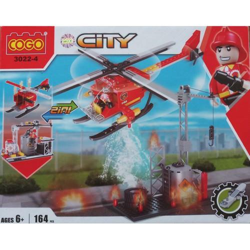 Đồ chơi xếp hình máy bay cứu hỏa 3022-4