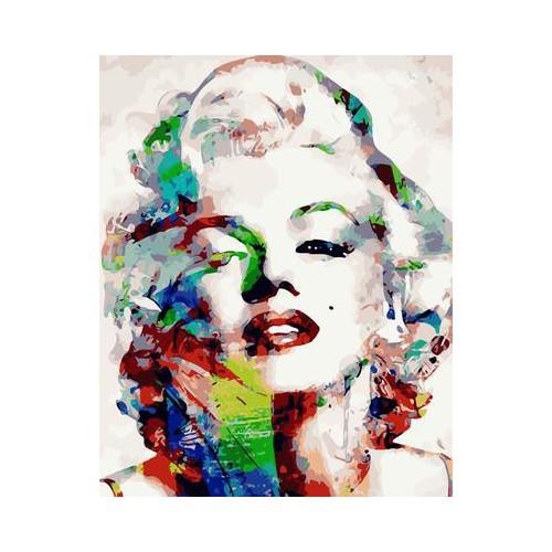 Tranh tự tô Marilyn Monroe gợi cảm tặng màu+cọ vẽ - 50x60cm