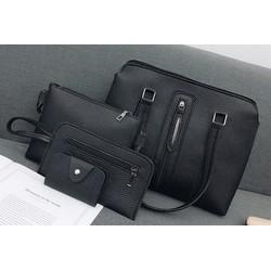 Bộ túi xách 4 chiếc da sần V1