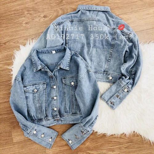áo khoác jean nữ nhìu nút