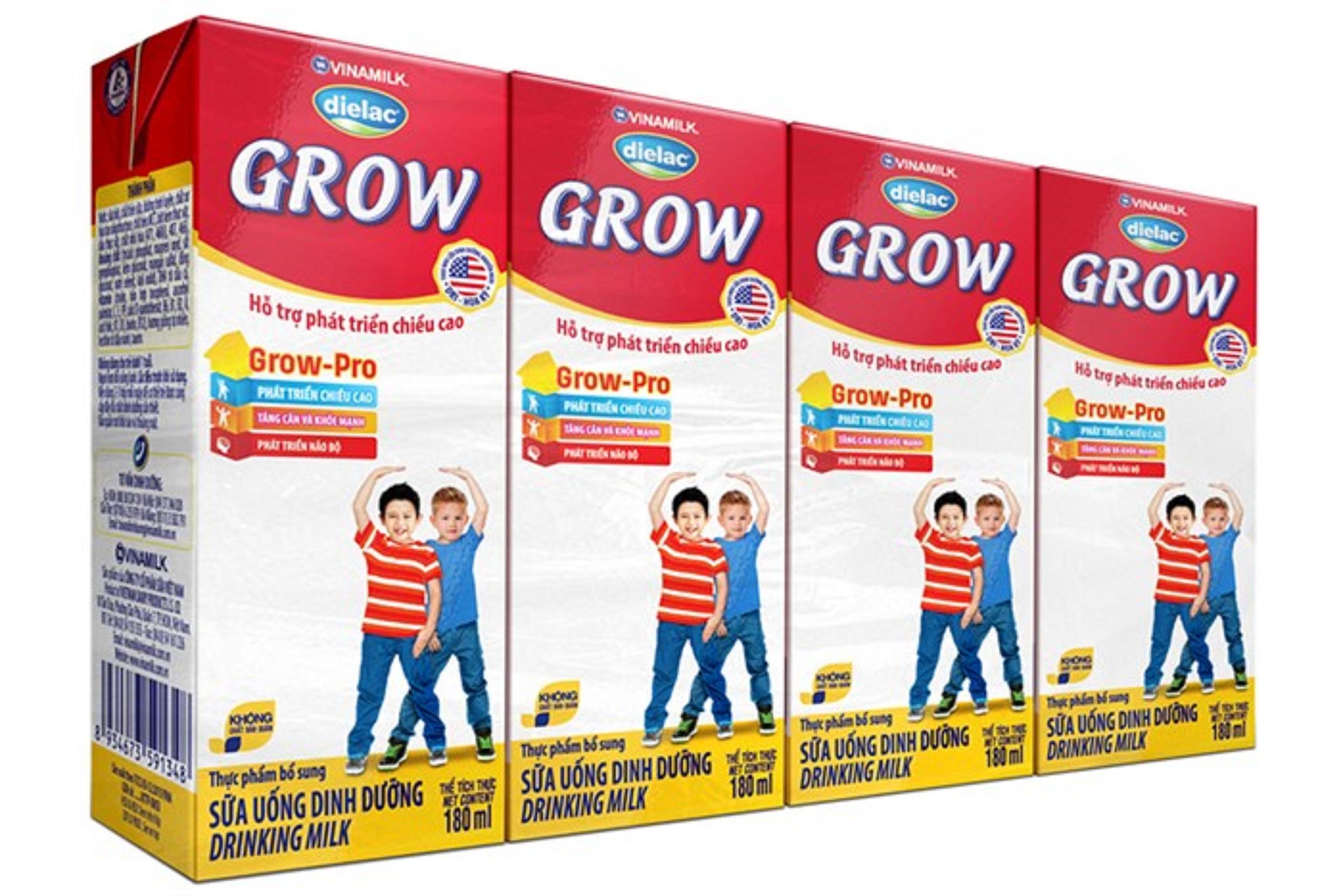 Combo 24 hộp sữa uống dinh dưỡng Vinamilk Dielac Grow 180ml - SBPS 25