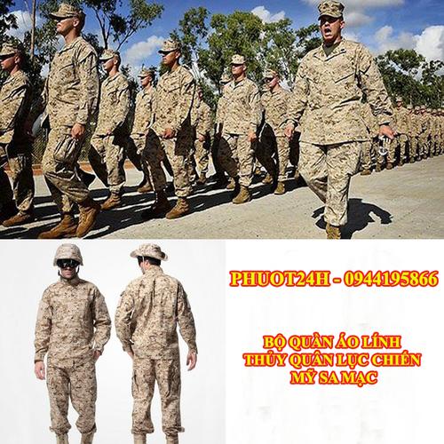 Bộ quần áo lính thủy quân lục chiến MỸ sa mạc - quần áo chiến thuật