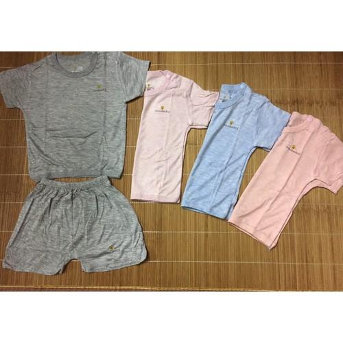 Noubaby - Bộ quần áo cộc tay cài vai màu chất sợi tre cho bé 3-24m - 8451467 , 17851036 , 15_17851036 , 82000 , Noubaby-Bo-quan-ao-coc-tay-cai-vai-mau-chat-soi-tre-cho-be-3-24m-15_17851036 , sendo.vn , Noubaby - Bộ quần áo cộc tay cài vai màu chất sợi tre cho bé 3-24m