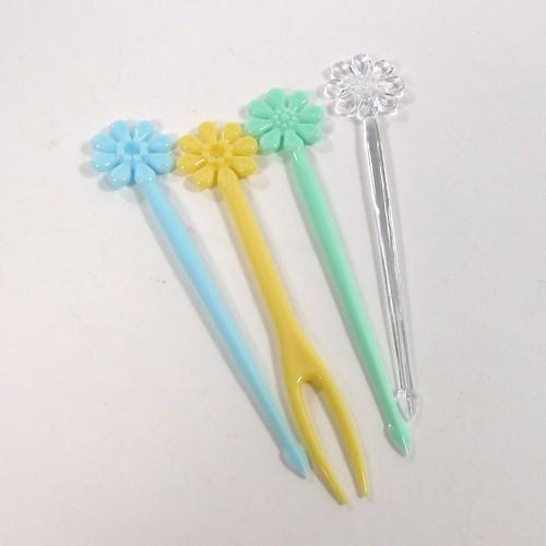 Hộp 20 nĩa ăn trái cây hình hoa - Hàng Nhập Khẩu Từ Nhật