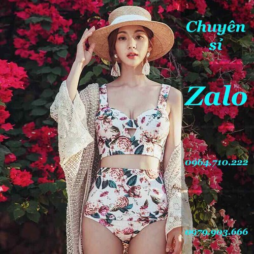 Bikini 2 chi tiết rời hoa cực đẹp hàng QC