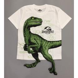 Áo thun bé trai - Áo khủng long Raptor 3D cho bé 17-35kg