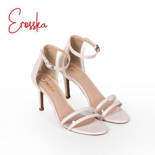 Giày Sandal Gót Nhọn 5 Phân Thời Trang Erosska EM017 NU.01 Màu Nude-Trắng-Đen-Nâu