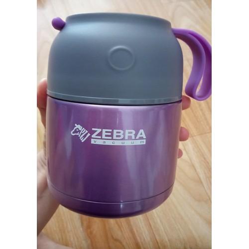 Ca Ù giữ nhiệt Zebra - 450ml - Màu Tím