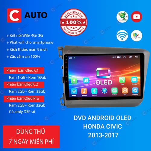 MÀN HÌNH DVD Ô TÔ ANDROID HONDA CIVIC 2013-2017 CẮM SIM 4G