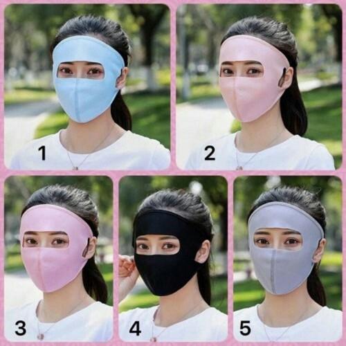 Set 5 Khẩu Trang Ninja Bịt Kín Mặt Chống Tia UV - Xuất Nhật Bản