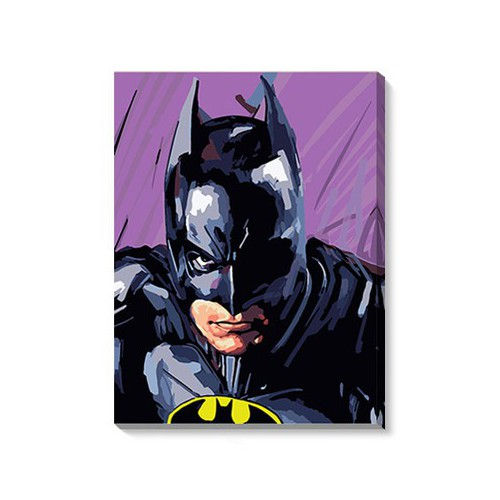 Tranh tự tô Người Dơi The Batman tặng màu+cọ vẽ - 40X50cm