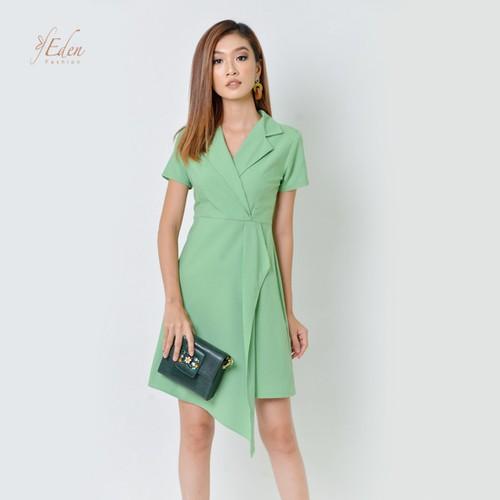 Đầm Xòe Vintage Cổ Vest Cao Cấp Thời Trang Eden - D356