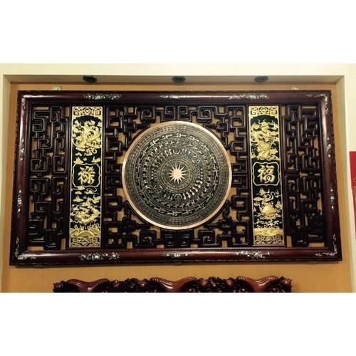 Mặt trống đồng khung gỗ gụ tứ linh dát vàng - 4751961 , 17858289 , 15_17858289 , 17000000 , Mat-trong-dong-khung-go-gu-tu-linh-dat-vang-15_17858289 , sendo.vn , Mặt trống đồng khung gỗ gụ tứ linh dát vàng