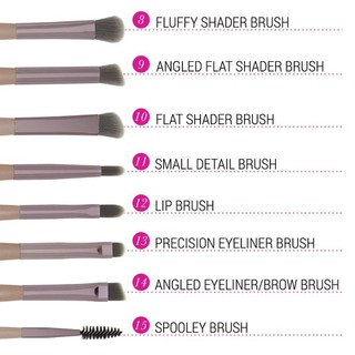 Bộ cọ trang điểm Bh Cosmetics Lavish Elegance 15 Piece Brush Set With Cosmetic Bag - BH19 thumbnail