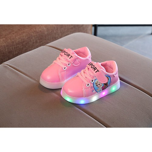 Giày bata elsa đèn led G020