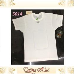 Áo lót nam Gunze 5014 áo cótay cổ trònsize M-L-XL màu trắng.