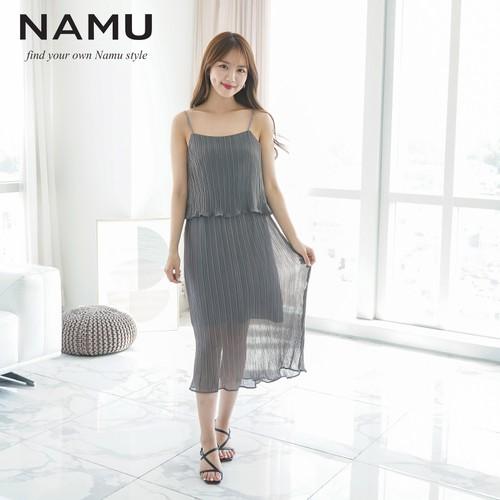 Đầm maxi xếp ly 2 dây eo thun hiệu NAMU 905010685 - 11331500 , 18867880 , 15_18867880 , 690000 , Dam-maxi-xep-ly-2-day-eo-thun-hieu-NAMU-905010685-15_18867880 , sendo.vn , Đầm maxi xếp ly 2 dây eo thun hiệu NAMU 905010685
