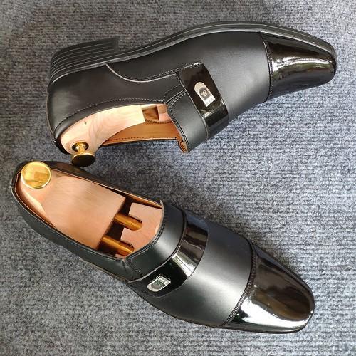 99k [còn 2 ngày] giày da nam da phối 2 mẫu da đế khâu