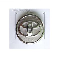 Logo chụp mâm bánh xe ô tô Toyota 57mm dùng cho xe Vios, Yaris và Altis