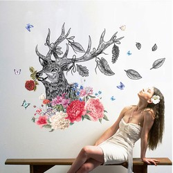 Giấy dán tường biểu tượng Hươu nghệ thuật và đầy ý nghĩa