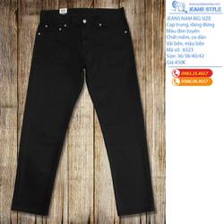 Quần jean nam  đen tuyền dáng đứng slim-fit lên form rất đẹp - có big size