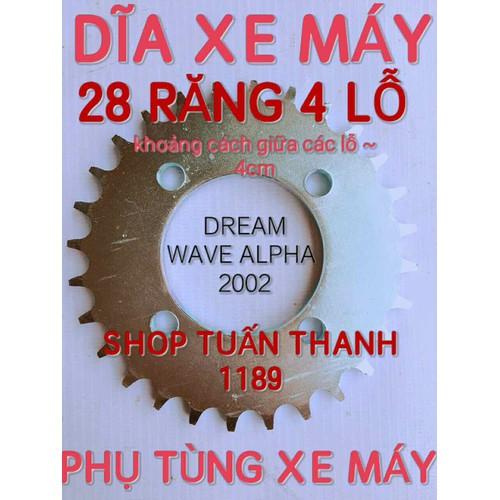 Dĩa xe máy 28 4 lỗ răng dr wavelpha 2002 - 17062670 , 18873264 , 15_18873264 , 50000 , Dia-xe-may-28-4-lo-rang-dr-wavelpha-2002-15_18873264 , sendo.vn , Dĩa xe máy 28 4 lỗ răng dr wavelpha 2002