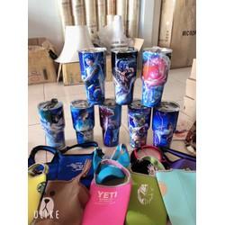 Ly giữ nhiệt YETI 3D 12 cung hoàng đạo Thái Lan 900ml ' tặng kèm túi- 2 ống hút- 1 cọ rửa'