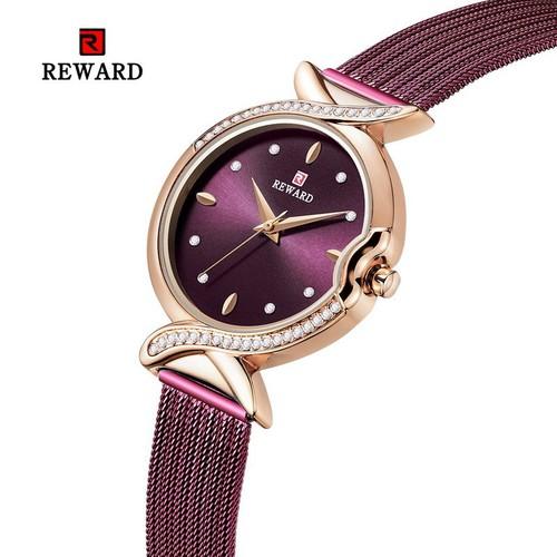 Đồng hồ nữ reward thời trang dây lưới - tặng kèm pin - rew2