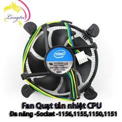 Quạt tản nhiệt CPU intel đa năng,socket 1156,1155,1150,1151 mới zin box-chính hãng