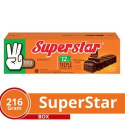 Bánh Xốp Superstar Chocolate 216g - 12 thanh x18g