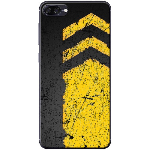 Ốp lưng nhựa dẻo Asus Zenfone 4 Max ZC520KL Vạch kẻ vàng