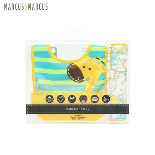 Yếm ăn dặm du lịch set 2 yếm cho bé Marcus & Marcus - Lola-vàng