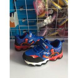 giày bé trai siêu nhân nhện đế lò xo size 26-36