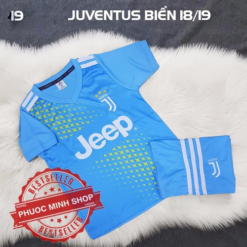 Quần áo bóng đá Juventus trẻ em xanh