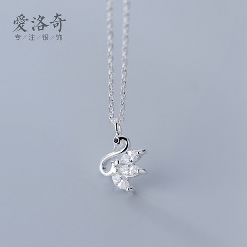 Dây chuyền bạc 925  Dây chuyền S925  Dây chuyền hình chim thiên nga  Dây chuyền Hàn Quốc