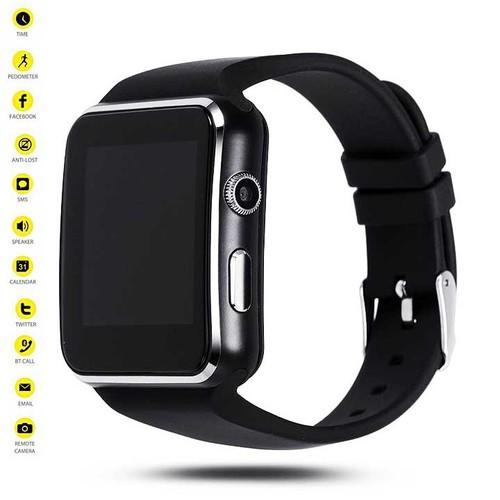 Đồng hồ thông minh Smart Watch X6 Màn Hình Cong Cao cấp_Có Tiếng Việt_Đồng hồ thông minh chống nước, Đồng hồ thông minh trẻ em, Đồng hồ thông minh có bluetooth, Đồng hồ thông minh giá rẻ - Vòng tay th