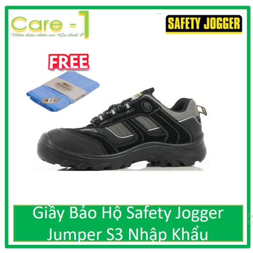 Giầy Bảo Hộ Safety Jogger Jumper S3 Nhập Khẩu - Tặng Khăn Mặt Cotton Cao Cấp 30k