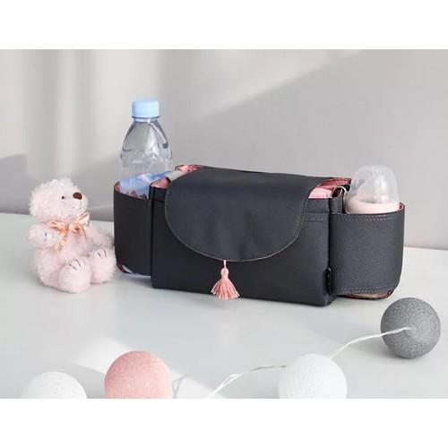 Túi treo xe đẩy Beberaing-mix hồng đen