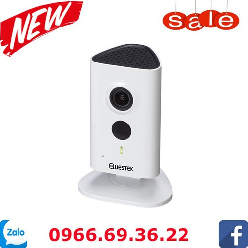 Camera IP Wifi Questek Win-913WN 1.3 Megapixel, IR 10m, F2.3mm, MicroSD, Âm thanh 2 chiều, Push Video