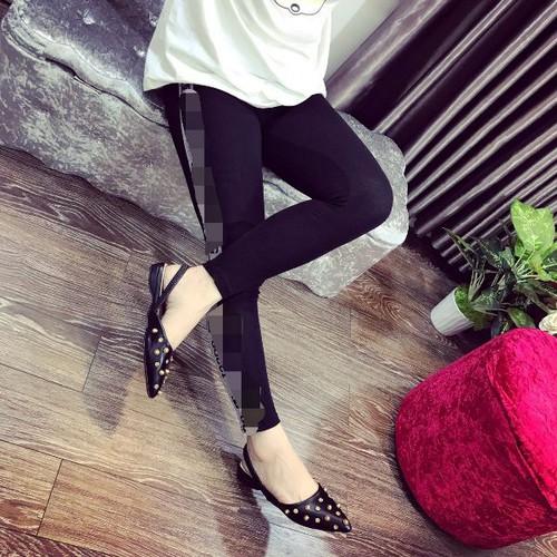Giày sandal nữ đế bệt phối hột xinh