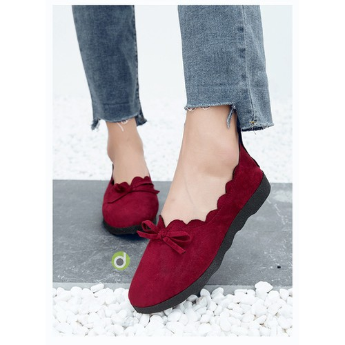 Giày lười slip on nữ vải da lộn đi bộ cực êm chân 350D - 8541124 , 17883708 , 15_17883708 , 150000 , Giay-luoi-slip-on-nu-vai-da-lon-di-bo-cuc-em-chan-350D-15_17883708 , sendo.vn , Giày lười slip on nữ vải da lộn đi bộ cực êm chân 350D